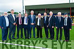 John O'Regan of Mounthawk Park Tralee shows Martin O'Neill (Manager of The Irish International Soccer Team) and John Delaney (Chief Ex of FAI) around the all new weather Soccer pitch at Mounthawk Park,Tralee on Wednesday. l-r Murt Murphy (Media), Graham Spring, Mike Farrell, Sean O'Keeffe , John Delaney,John O'Regan, Martin O'Neill, Frank Hayes (Kerry Group),Don O'Donoghue and Michael Healy Rae.