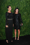 Model Christy Turlington (left) and guest arrive at the MoMa Film Benefit Tribute to Julianna Moore presented by Chanel, at the Musuem of Modern Art in New York City, on November 13, 2017.