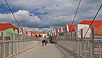 Kładka nad ulica Kolejowa oraz torami - łączącea jezioro Niegocin z centrum miasta Giżycka