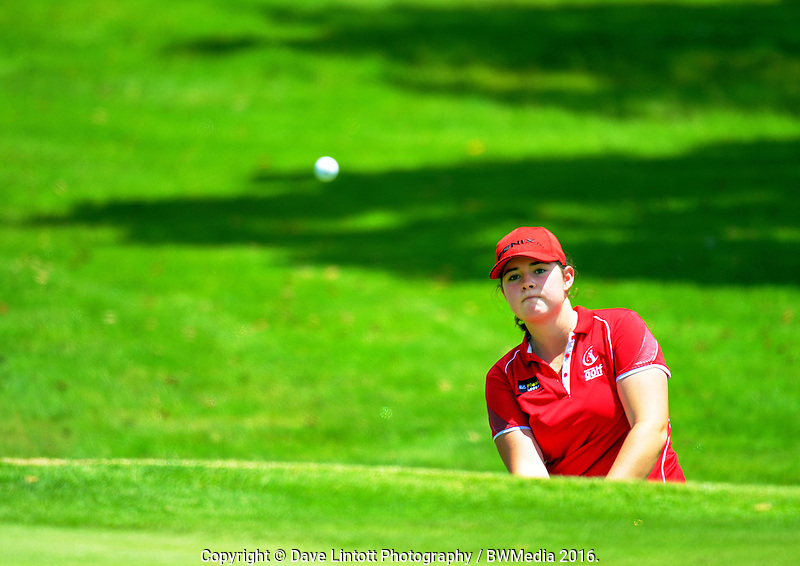 Hillary O'Connor (Canterbury). 2016 Toro Women's Interprovincial Golf Championship at Westown Golf Club in New Plymouth, New Zealand on Friday, 9 December 2016. Photo: Dave Lintott / lintottphoto.co.nz