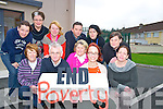 Pictured announcing details of the campaign to raise awareness of the eradication of poverty through family resource centres in Cork and Kerry, in Ballyspillane Family Resource centre, Killarney on Monday were Veronica Murphy, Denny Hayes, Mary O'Regan, Nancy Holmes Smith, Liz Fenton, Natasha O'Donoghue, Maria Gorman, Marian McCabe, Seamus Falvey, Michelle Moore and Jackie Landers.
