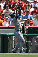 05/06/12 Anaheim, CA: Toronto Blue Jays designated hitter Edwin Encarnacion #10 during an MLB game against the Toronto Blue Jays played at Angel stadium. The Angels defeated the Blue Jays 4-3