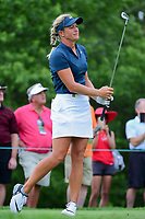 Suzann Pettersen (NOR) watches her tee shot on 7 during Thursday's first round of the 72nd U.S. Women's Open Championship, at Trump National Golf Club, Bedminster, New Jersey. 7/13/2017.<br /> Picture: Golffile | Ken Murray<br /> <br /> <br /> All photo usage must carry mandatory copyright credit (&copy; Golffile | Ken Murray)