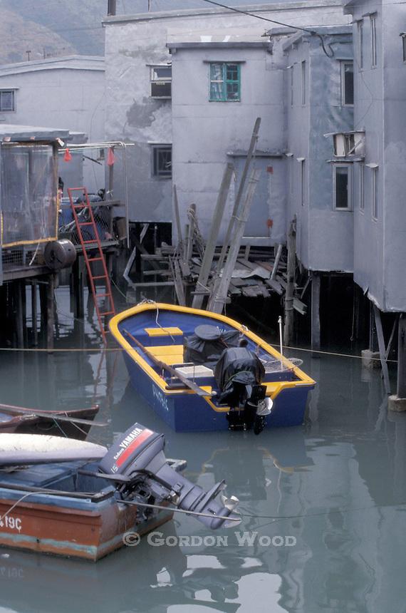 Fishing Boats & Stilt Houses - Tai O, Lantau, Hong Kong