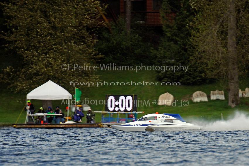 "Chris Bertram, NM-133 ""Hey Jude"" hits the starting line.  (National Mod hydroplane(s)"