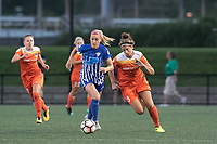 Boston, MA - Wednesday August 16, 2017: Megan Oyster, Sarah Hagen during a regular season National Women's Soccer League (NWSL) match between the Boston Breakers and the Houston Dash at Jordan Field.