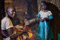 Inside a Maasai hut