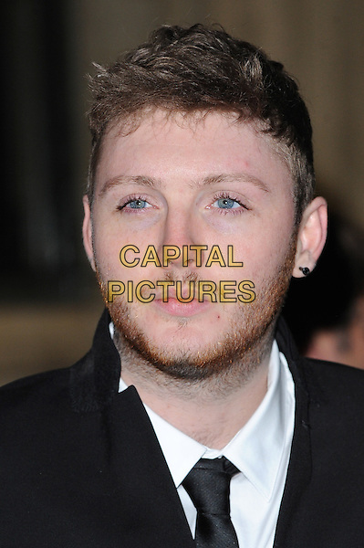 James Arthur .The Prince's Trust Comedy Gala, Royal Albert Hall, London, England..28th November 2012.headshot portrait white shirt black tie beard stubble facial hair.CAP/BEL.©Tom Belcher/Capital Pictures.
