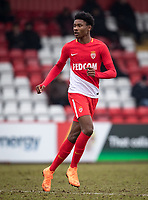 Khephren Thuram-Ulien of AS Monaco FC Youth during the UEFA Youth League round of 16 match between Tottenham Hotspur U19 and Monaco at Lamex Stadium, Stevenage, England on 21 February 2018. Photo by Andy Rowland.