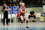 Rüsselsheim, Germany, April 13: Jennifer Geerties #15 of the Rote Raben Vilsbiburg in action during play off Game 1 in the best of three series in the semifinal of the DVL (Deutsche Volleyball-Bundesliga Damen) season 2013/2014 between the VC Wiesbaden and the Rote Raben Vilsbiburg on April 13, 2014 at Grosssporthalle in Rüsselsheim, Germany. Final score 0:3 (Photo by Dirk Markgraf / www.265-images.com) *** Local caption ***