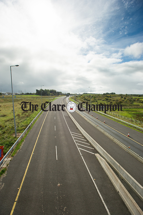 A general view of the M18 motorway looking southward from it's finish at Gort.Photograph by John Kelly.