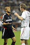 30 October 2004: Earnie Stewart (left) and John Wolyniec (right). DC United defeated the MetroStars 2-0 at RFK Stadium in Washington, DC in the second leg of their Major League Soccer Eastern Conference Semifinal playoff series. United eliminated the MetroStars 4-0 on aggregate goals..