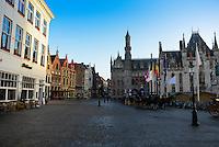 Market Square In Brugge, Belgium