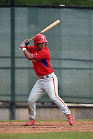 Philadelphia Phillies Chace Numata (3) during a minor league spring training intrasquad game on March 27, 2015 at the Carpenter Complex in Clearwater, Florida.  (Mike Janes/Four Seam Images)