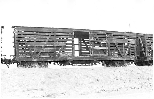 Stock car #5668 at Alamosa.<br /> D&amp;RGW  Alamosa, CO  Taken by Schnepf, Ted - 6/18/1971