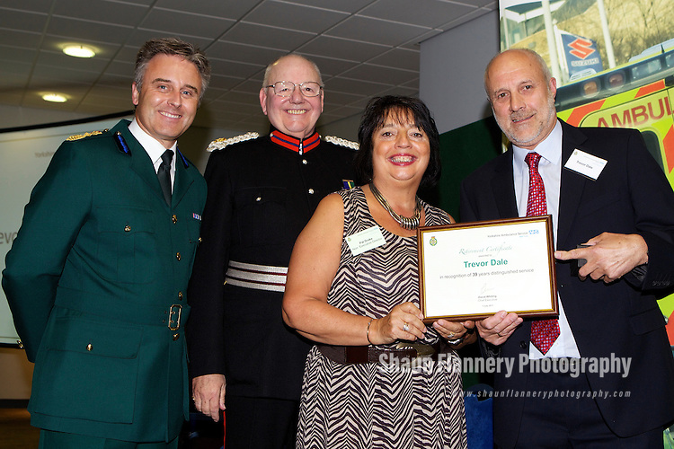 Pix: Shaun Flannery/shaunflanneryphotography.com...COPYRIGHT PICTURE>>SHAUN FLANNERY>01302-570814>>07778315553>>..1st July 2011..................Yorkshire Ambulance Service NHS Trust..Long Service and Retirement Awards..Bramham Hall, Wetherby Racecourse.