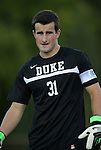 14 September 2012: Duke's James Belshaw (ENG). The Duke University Blue Devils defeated the Clemson University Tigers 2-0 at Koskinen Stadium in Durham, North Carolina in a 2012 NCAA Division I Men's Soccer game.