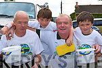 Mossie Sullivan, Trevor, Jim and Jack Healy Killarney who participated in the annual Rehab/Top Oil car wash in Billy Doyle's Garage Muckross Road Killarney on Saturday.          Copyright Kerry's Eye 2008