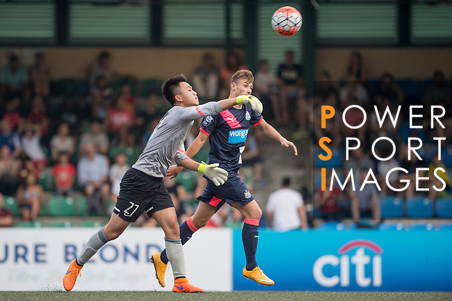 Newcastle United vs Kitchee during the Main of the HKFC Citi Soccer Sevens on 21 May 2016 in the Hong Kong Footbal Club, Hong Kong, China. Photo by Li Man Yuen / Power Sport Images