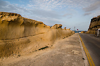 Malta, 28 December 2014<br /> <br /> Along the West shore of the old city of Valetta. Heavily eroded sand stone.<br /> <br /> Photo Kees Metselaar