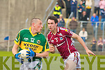 Kerry's Kieran Donaghy and Galway's Finian Hanley.