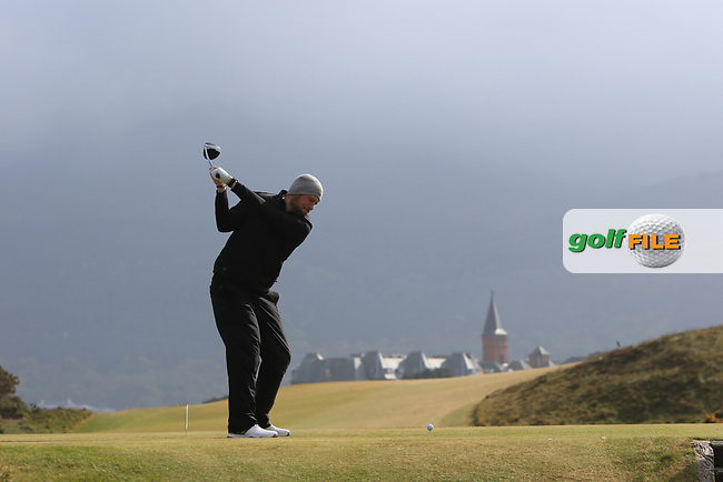 Sean Towndrow (Southport &amp; Ainsdale) on the 9th tee during Round 3 of the Flogas Irish Amateur Open Championship 2017 at Royal County Down on Saturday 13th May 2017.<br /> Photo: Golffile / Thos Caffrey.<br /> <br /> All photo usage must carry mandatory copyright credit     (&copy; Golffile | Thos Caffrey)