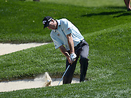 Bethesda, MD - June 25, 2016: Jim Furyk hits the ball from the bunker on the 11th hole during Round 3 of professional play at the Quicken Loans National Tournament at the Congressional Country Club in Bethesda, MD, June 25, 2016.  (Photo by Don Baxter/Media Images International)
