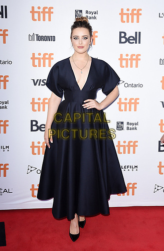"""TORONTO, ONTARIO - SEPTEMBER 07: Katherine Langford attends the """"Knives Out"""" premiere during the 2019 Toronto International Film Festival at Princess of Wales Theatre on September 07, 2019 in Toronto, Canada.     <br /> CAP/MPI/IS<br /> ©IS/MPI/Capital Pictures"""