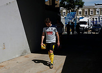 18th July 2020; The Kiyan Prince Foundation Stadium, London, England; English Championship Football, Queen Park Rangers versus Millwall;  Ben Thompson of Millwall walking from the away tunnel onto the pitch before kick off