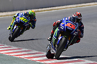 Montmelo' (Spagna) 10-06-2017 qualifiche Moto GP Spagna foto Luca Gambuti/Image Sport/Insidefoto<br /> nella foto: Maverick Vinales-Valentino Rossi