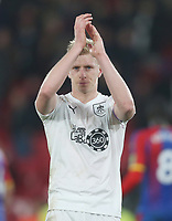 Burnley's Ben Mee acknowledges the fans at the end of the game<br /> <br /> Photographer Rob Newell/CameraSport<br /> <br /> The Premier League - Saturday 1st December 2018 - Crystal Palace v Burnley - Selhurst Park - London<br /> <br /> World Copyright &copy; 2018 CameraSport. All rights reserved. 43 Linden Ave. Countesthorpe. Leicester. England. LE8 5PG - Tel: +44 (0) 116 277 4147 - admin@camerasport.com - www.camerasport.com