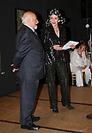 Playwright Mario Fratti and Liliane Montevecchi attending 'Love n' Courage' - Theater for the New City Benefit at The National Arts Club on February 24, 2014 in New York City.