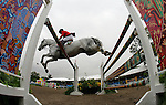 GUADALAJARA, MEXICO - OCTOBER 27:  Daniel Michan of Mexico competes during the Equestrian Show Jumping Competition on Day Thirteen of the XVI Pan American Games on October 27, 2011 in Guadalajara, Mexico.  (Photo by Donald Miralle for Mexsport) *** Local Caption ***