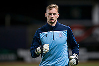 8th November 2019; Dens Park, Dundee, Scotland; Scottish Championship Football, Dundee Football Club versus Dundee United; Conor Hazard of Dundee during the warm up before the match  - Editorial Use