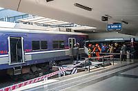 Buenos Aires, Argentina 19 de Outubro, um trem não freio e colidiu com o pára-choque dos onze estações ferindo dezenas. É o mesmo local onde a tragédia ocorreu 22 de fevereiro de 2012, que deixou 51 mortos. Juani Foto Roncoroni / BRAZIL PHOTO PRESS).