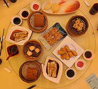 "An assortment of ""Dim Sum"" dishes in the Tim Ho Wan the cheapest Michelin starred restaurant in the world, Hong Kong..17-Jul-11..Photo by Richard Jones....."