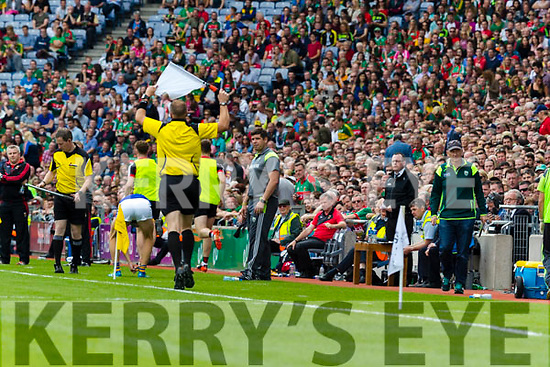 Kerry Manager Eamonn Fitzmaurice during the All Ireland Semi Final Replay in Croke Park on Saturday.