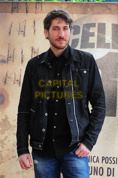 "ALBERTO AMMANN .Photocall for the film ""Celda 211"" (Cell 211), Rome, Italy..April 13th, 2010.half length black jacket shirt beard facial hair .CAP/CAV.©Luca Cavallari/Capital Pictures."