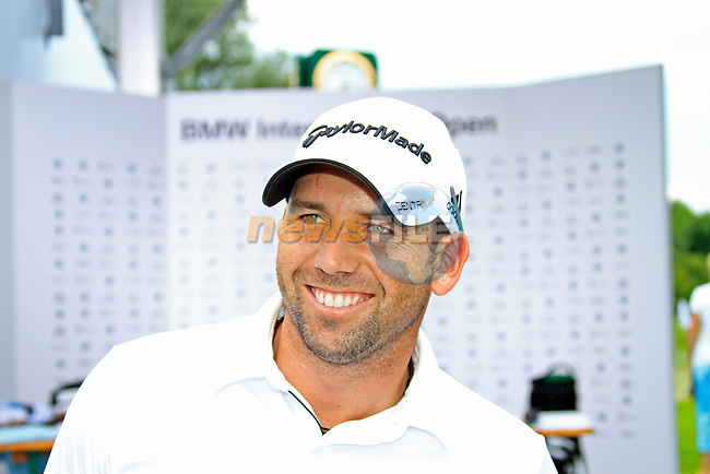 Sergio Garcia (ESP) after finishing his round in the Pro-Am Day of the BMW International Open at Golf Club Munchen Eichenried, Germany, 22nd June 2011 (Photo Eoin Clarke/www.golffile.ie)