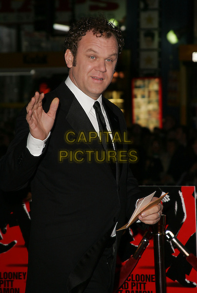 "JOHN C. REILLY.The Warner Brothers' World Premiere of ""Ocean's Twelve"" held at The Grauman's Chinese Theatre in Hollywood, California .December 8th,2 004.half length, tuxedo, waving, gesture.www.capitalpictures.com.sales@capitalpictures.com.Supplied By Capital PIctures"