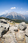 GR Footpath, GR20, Hiking Trail down spine of Corsica, Monte 'd Oro,  Corsica, France,