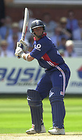 .13/07/2002.Sport - Cricket -NatWest Series Final- Lords.England vs India.Nasser Hussian
