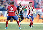 Atletico de Madrid's Matias Kranevitter (r) and Koke Resurrecccion during La Liga match. April 30,2016. (ALTERPHOTOS/Acero)