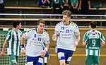 Stockholm 2014-09-18 Handboll Elitserien Hammarby IF - IFK Sk&ouml;vde :  <br /> Sk&ouml;vdes Markus Stegefelt jublar efter ett av sina m&aring;l<br /> (Foto: Kenta J&ouml;nsson) Nyckelord:  Eriksdalshallen Hammarby HIF HeIF Bajen IFK Sk&ouml;vde jubel gl&auml;dje lycka glad happy