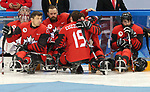 Pyeongchang, Korea, 18/3/2018-compete in the gold medal ice game against the USA during the 2018 Paralympic Games. Photo: Scott Grant/Canadian Paralympic Committee.