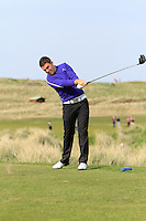Rory McNamara (Headfort) on the 15th tee during round 2 of The West of Ireland Amateur Open in Co. Sligo Golf Club on Saturday 19th April 2014.<br /> Picture:  Thos Caffrey / www.golffile.ie