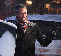 NEW YORK, NY - JANUARY 4: T.J. Holmes at Good Morning America reporting on driving in this cold weather in New York City on January 04, 2018.    <br /> CAP/MPI/RW<br /> &copy;RW/MPI/Capital Pictures