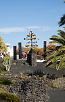 'Energia de la Piramide' wind sculpture, Fundación César Manrique, Taro de Tahíche, Lanzarote, Canary islands, Spain