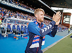 14.07.2019: Rangers v Marseille: Filip Helander introduced to Ibrox at half time