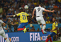 Gabriel Achilier (ECU), Olivier Giroud (FRA),<br /> JUNE 25, 2014 - Football / Soccer : FIFA World Cup Brazil 2014 Group E match between Ecuador 0-0 France at Estadio Do Maracana stadium in Rio de Janeiro, Brazil.<br /> (Photo by FAR EAST PRESS/AFLO)